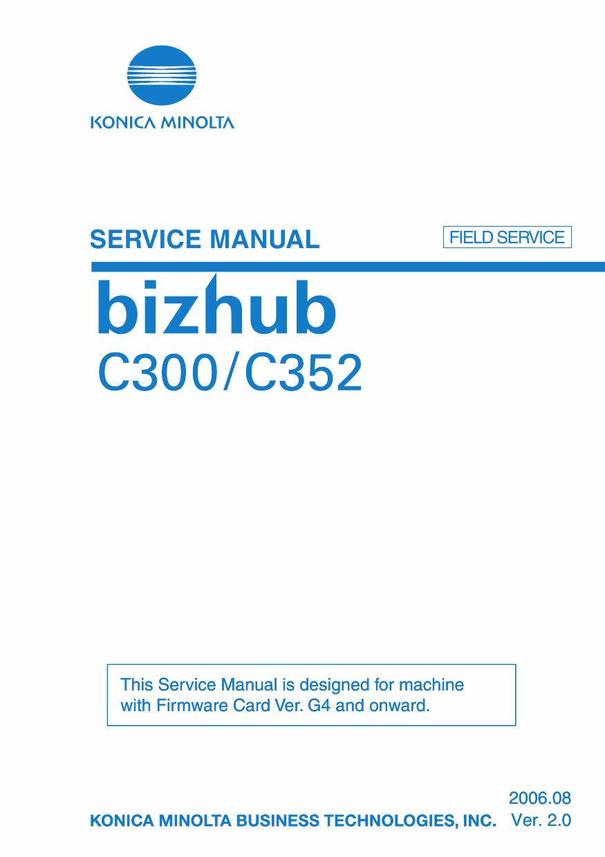 Konica Minolta Bizhub C350 C352 Field Service Service Manual border=